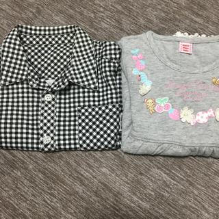 mezzo piano - 女の子 シャツ2枚セット(80.90サイズ)