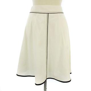 エムズグレイシー(M'S GRACY)のエムズグレイシー NF-627126 スカート センターライン 膝丈 白 36(ひざ丈スカート)