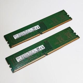 メモリ SKhynix 8GB (4Gx2) DDR4-2666 美品 ''38