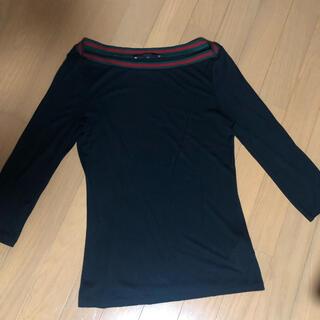 グッチ(Gucci)のGUCCI カットソー 七分袖 XS 黒 (カットソー(長袖/七分))