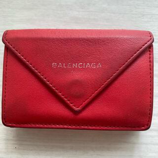 Balenciaga - バレンシアガ BALENCIAGA 三つ折り財布 レッド