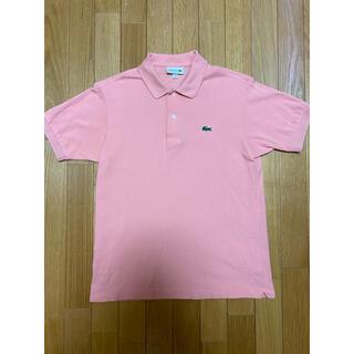 ラコステ(LACOSTE)の【美品】日本製 ラコステ ポロシャツ L1212AL サーモンピンク 3(ポロシャツ)
