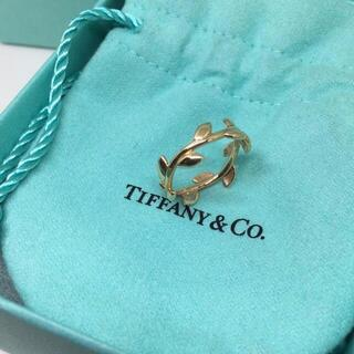 Tiffany & Co. - 7%OFFSALE 9/25まで 新品 オリーブリーフリング k18 ゴールド