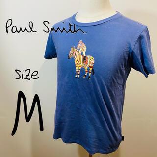 Paul Smith - 【ポールスミス】Tシャツ プリント ブランドカラー Mサイズ 紺色 フォースロゴ