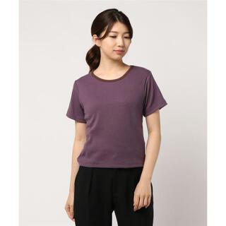 カスタネ(Kastane)のkastane リンガーリブTシャツ パープル(Tシャツ(半袖/袖なし))