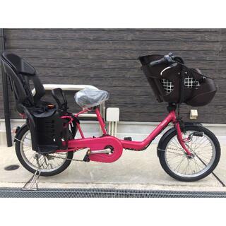 Panasonic - 地域限定送料無料 ギュットミニ バッテリー新品 三人乗り ピンク 電動自転車