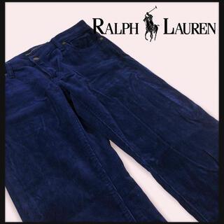 POLO RALPH LAUREN - 【90年代ポロラルフローレン】コーデュロイスラックスパンツ ステッチロゴ牛本革