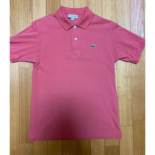 ラコステ(LACOSTE)の【美品】日本製 ラコステ ポロシャツ L1212AL ダークピンク 3(ポロシャツ)