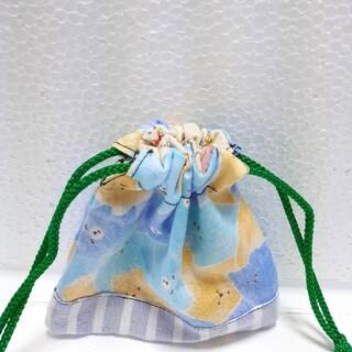 くま柄 ミニ巾着袋(外出用品)