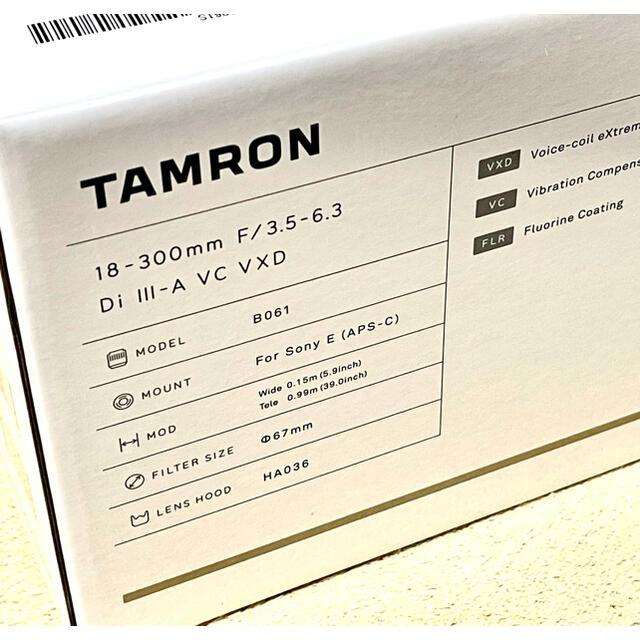 TAMRON(タムロン)の【新品 未開封】タムロン18-300 高倍率ズーム ソニーEマウント用 スマホ/家電/カメラのカメラ(レンズ(ズーム))の商品写真