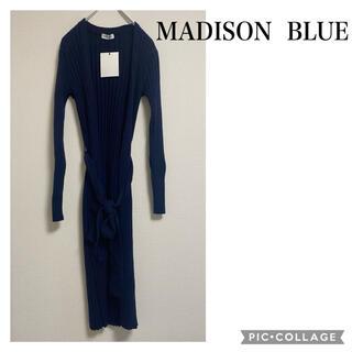マディソンブルー(MADISONBLUE)のMADISON BLUE WIDE RIB LONG カーディガン ウール(カーディガン)
