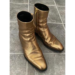 サンローラン(Saint Laurent)のSaintLaurentサンローラン WYATT 40 ゴールド ブーツ メンズ(ブーツ)