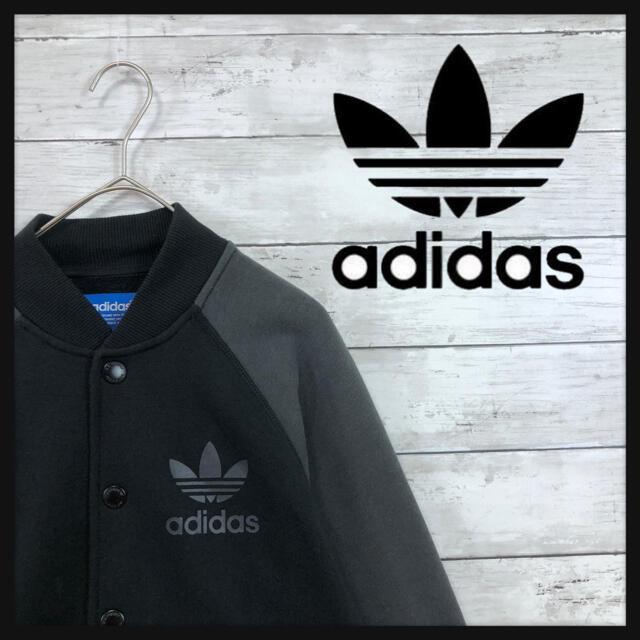 【王道adidas 】トラックブルゾンツートンカラーワンポイントトレフォイルロゴ メンズのジャケット/アウター(ブルゾン)の商品写真