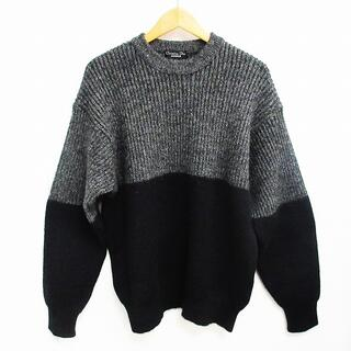クリスチャンディオール(Christian Dior)のクリスチャンディオール Monsieur アルパカ混 バイカラー セーター M(ニット/セーター)