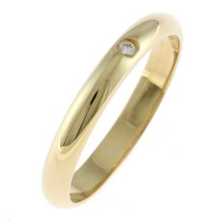 Cartier - 【中古】カルティエ CARTIER リング・指輪 一粒ジュエリー10号 K18