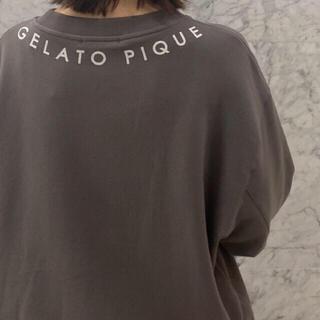 gelato pique - ジェラートピケ★ロゴスウェットプルオーバー ダークグレー★