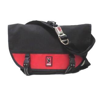 クローム(CHROME)のクローム メッセンジャーバッグ ショルダーバッグ ナイロン フラップ 黒 赤(ショルダーバッグ)