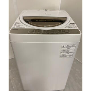 トウシバ(東芝)の洗濯機 7kg 東芝 中古 AW-7G8-W 2019年式 都内近郊送料無料!!(洗濯機)