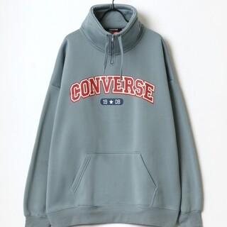 コンバース(CONVERSE)のコンバース カレッジ ロゴ ハーフジップ モックネック スウェット(スウェット)
