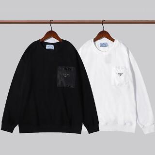 PRADA - 2枚1000円引 PRADA#HHS090402 ロゴ付き スウェット 新品