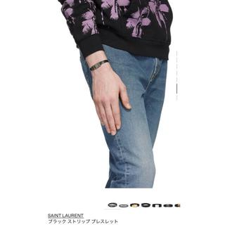 サンローラン(Saint Laurent)のSaint Laurent サンローラン ブレスレット 正規品  ブラック 新品(ブレスレット)