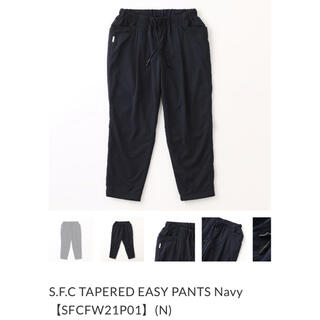 1LDK SELECT - S.F.C TAPERED EASY PANTS Navy XL