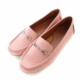 コーチ(COACH)のコーチ ビットローファー モカシン スリッポン レザー 5.5 ピンク(ローファー/革靴)