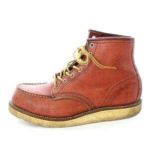 レッドウィング(REDWING)のレッドウィング ヴィンテージ 90s 新四角犬タグ ブーツ 6E 24cm 赤茶(ブーツ)