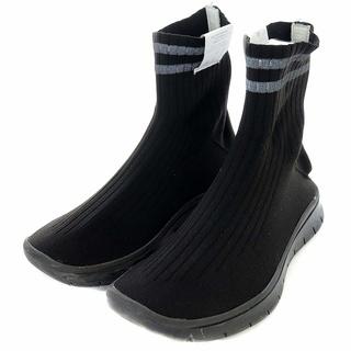 メゾンマルジェラ ソックススニーカー ソックスブーツ 2本ライン 24cm 黒(ブーツ)