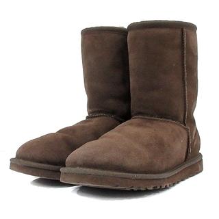 アグ オーストラリア ショートブーツ ムートンブーツ 23cm 茶 5825(ブーツ)