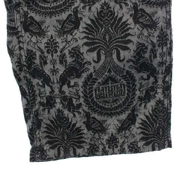 Needles(ニードルス)のニードルス ストレートパンツ ジップフライ 総柄 コットン グレー 黒 メンズのパンツ(スラックス)の商品写真