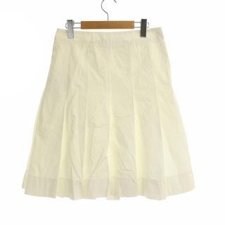 プラダ(PRADA)のプラダ PRADA プリーツスカート ひざ丈 イタリア製 38 S 白 ホワイト(ひざ丈スカート)