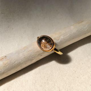 agete - ガーデンクォーツ  真鍮リング