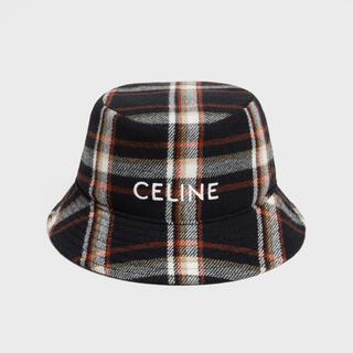 celine - M 59 CELINE バケットハット / チェックウールツイル マルチカラー