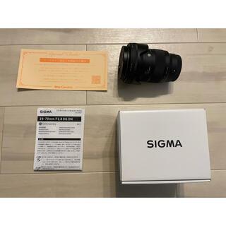 SIGMA - 保証有 SIGMA 28-70mm F2.8 DG DN ソニーEマウント用