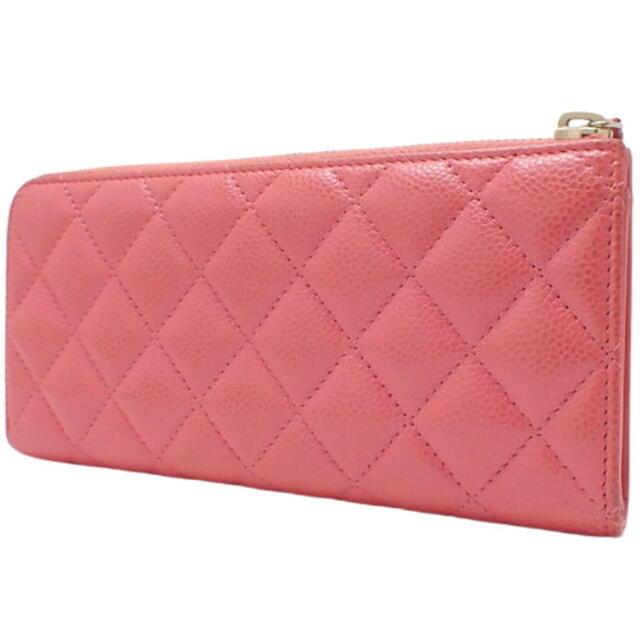 CHANEL(シャネル)のシャネル ココマーク 長財布 キャビアスキン ピンク 40802005291 レディースのファッション小物(財布)の商品写真