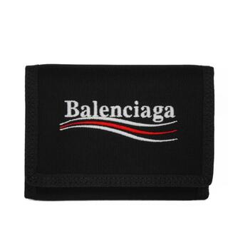 バレンシアガ(Balenciaga)のバレンシアガ エクスプローラー スクエアウォレット ロゴ ナイロン ブラック(折り財布)