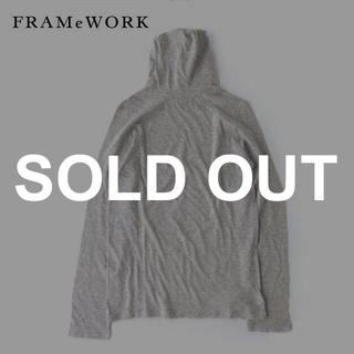 FRAMeWORK - FRAMeWORK✨コットンウール スラブ天竺 タートルネックカットソー 日本製