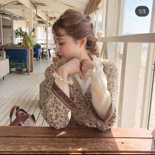 Kastane - 【美品】Kastane オリエンタル花柄カシュワンピース