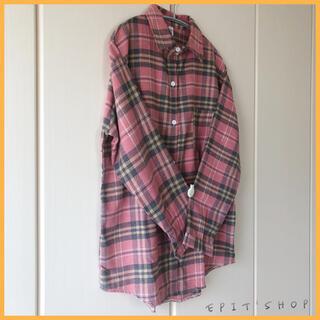 【新品】レディース トップス チェックシャツ 長袖 XLサイズ ゆったり 韓国