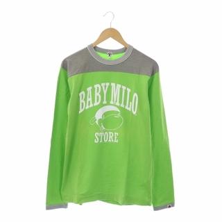 アベイシングエイプ(A BATHING APE)のアベイシングエイプ A BATHING APE Tシャツ M グリーン グレー(Tシャツ/カットソー(七分/長袖))