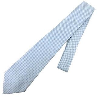ルイヴィトン(LOUIS VUITTON)のLOUIS VUITTON ネクタイ ロゴ レギュラータイ 水色 ライトブルー(ネクタイ)