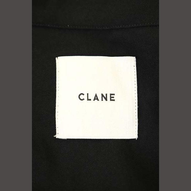 クラネ CLANE オープンカラーロングシャツワンピース 長袖 1 黒 ブラック レディースのワンピース(ロングワンピース/マキシワンピース)の商品写真