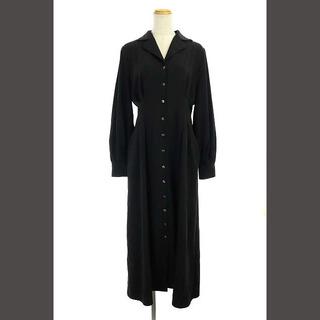 クラネ CLANE オープンカラーロングシャツワンピース 長袖 1 黒 ブラック
