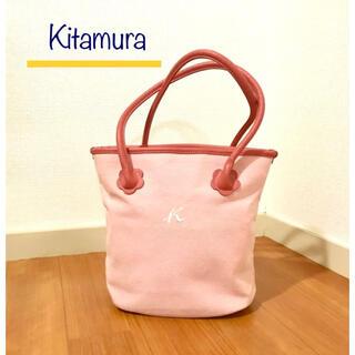 Kitamura - キタムラ コットン×フェイクレザーブレンド レディース 2wayトートバッグ