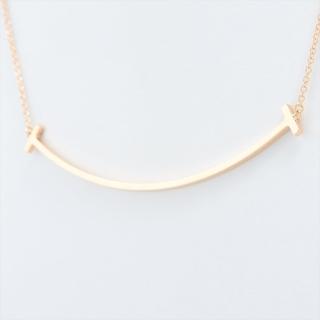 ティファニー(Tiffany & Co.)のティファニー Tスマイル   YG ユニセックス ネックレス(ネックレス)