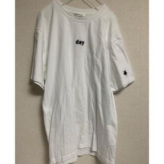 mixxmix - mixxmix 韓国 半袖 太陽 トップス サブカル ロゴ Tシャツ ホワイト