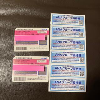 エーエヌエー(ゼンニッポンクウユ)(ANA(全日本空輸))のANA優待券2枚+ANA割引券(航空券)