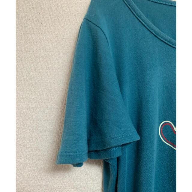Tシャツ raugh ラフ トップス 半袖 ブルー グリーン ターコイズ ハート レディースのトップス(Tシャツ(半袖/袖なし))の商品写真