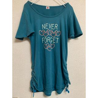 rough - Tシャツ raugh ラフ トップス 半袖 ブルー グリーン ターコイズ ハート